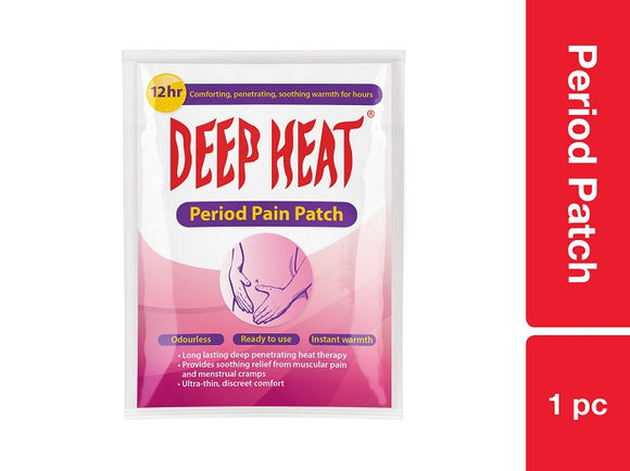 Deep Heat Period Patch 1pc Pack of 12