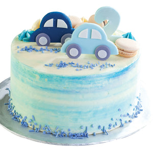 Blue Car Cake (Cream)