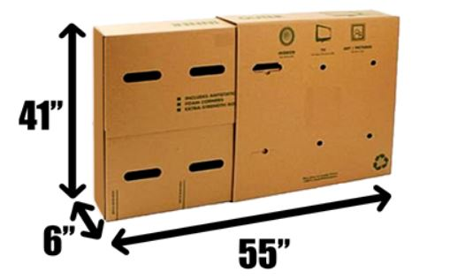 Flat Screen TV Shipping for Up to 50