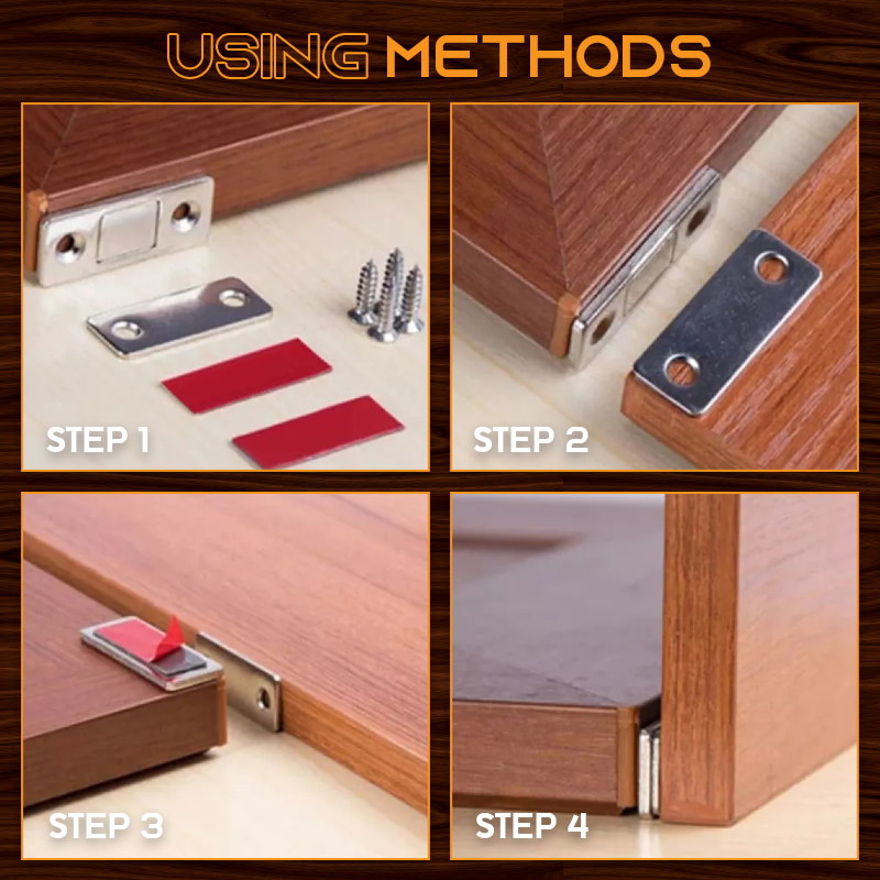 Ultra-thin Invisible Magnetic Door Stoppers