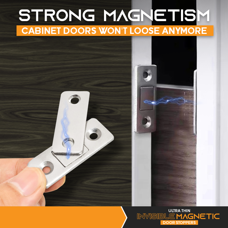 Strong magnetic force ensures that your cabinet door and drawer won't be loose anymore