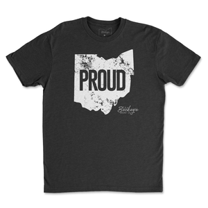 Distressed Ohio Proud T-Shirt - Buckeye Shirt Co.