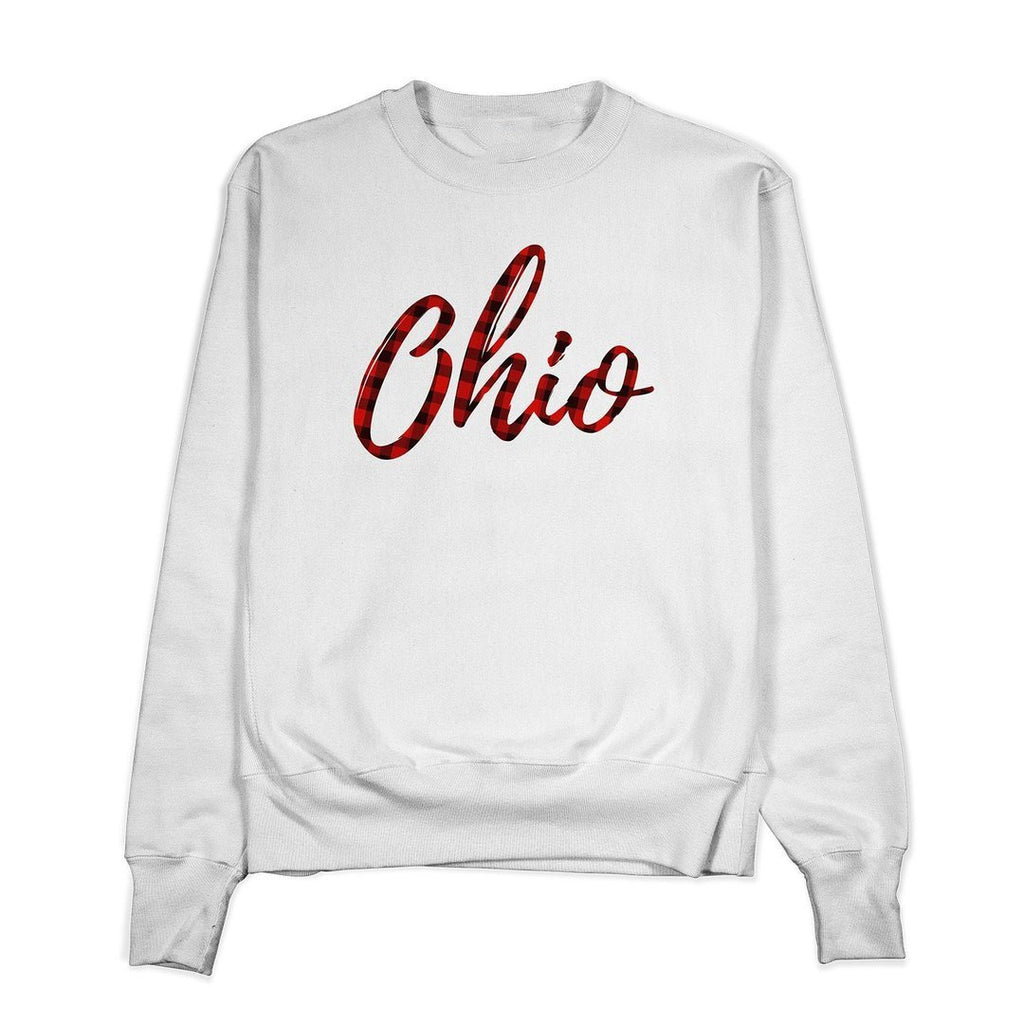 Ohio Plaid Crewneck - Buckeye Shirt Co.