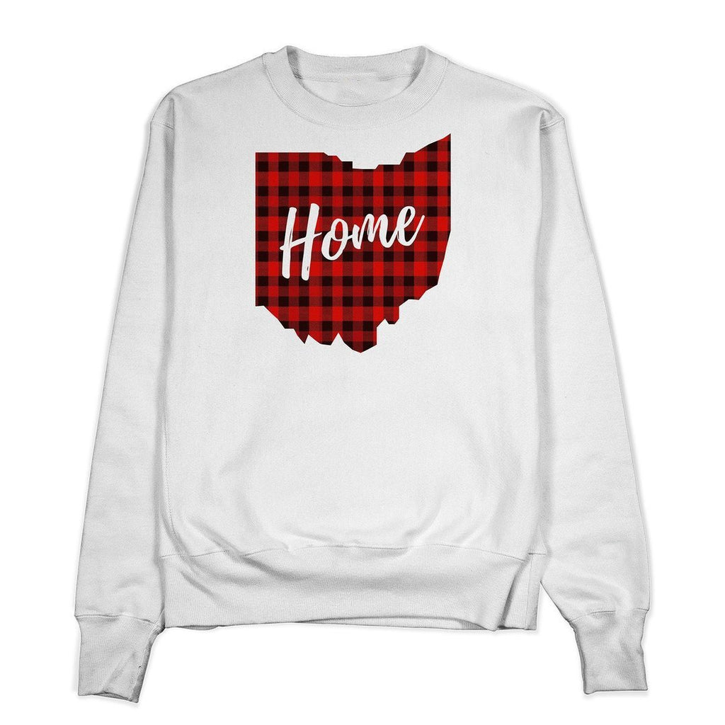 Plaid Ohio Home Crewneck - Buckeye Shirt Co.