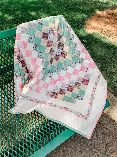 Baby Girl Scrappy Trip Quilt - Quilts a la Mode