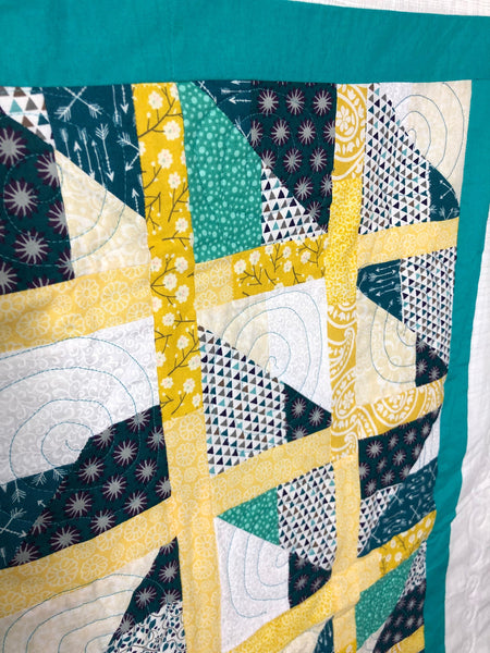 Modern Variation on Stained Glass - Quilts a la Mode