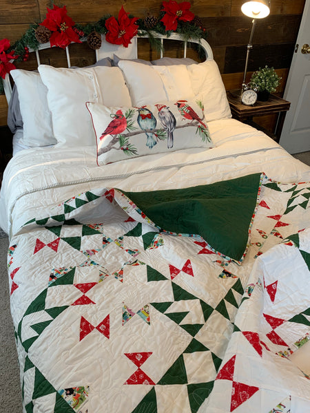 Christmas Butterflies and Bowties Handmade Quilt - Quilts a la Mode