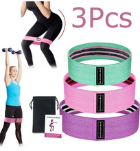 Load image into Gallery viewer, 3Pcs Resistance Booty Bands Set 3 Hip Circle Loop Bands Workout Exercise Guide & Bag