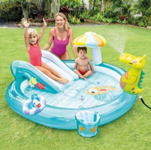 "Load image into Gallery viewer, Swimming Pool Play Center Sprayer Slide 85"" X 70"" X 35"" Inflatable"