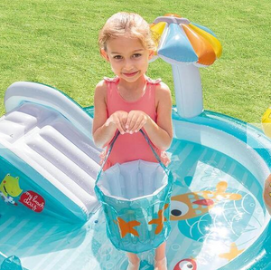 "Swimming Pool Play Center Sprayer Slide 85"" X 70"" X 35"" Inflatable"