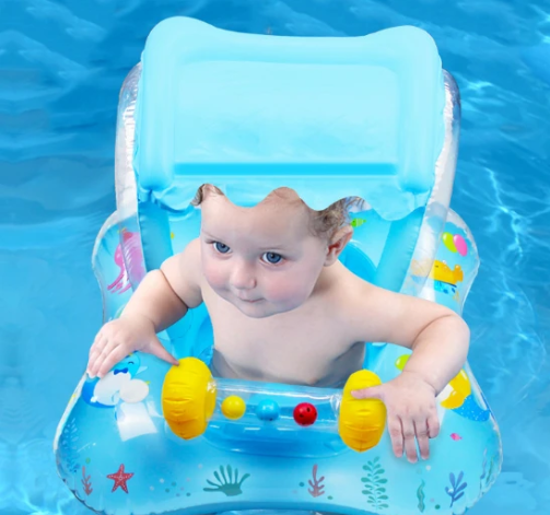 Toddler Swimming Pool Float With Canopy #Q