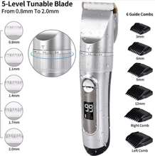 Load image into Gallery viewer, Hair Clippers Cordless Rechargeable Led Display with 6 Guide Combs Two Modes