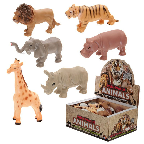 Squeezable PVC Soft Body Safari Animals