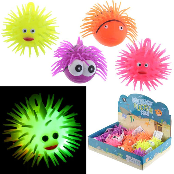 Squidgy Light Up Puff Pet Puffer Fish