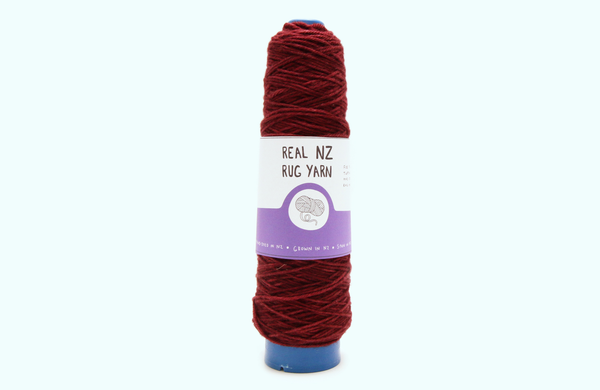 Merlot -The REAL NZ Rug Yarn - Hand-dyed wound to Cones for Tufting