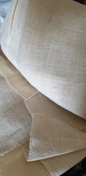 Beige Hessian Fabric for Punch Needling - Punch Needle Supplies NZ