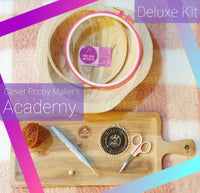PRE-SALE: DELUXE Clever Poppy Makers Academy Beginner Punch Needle Kit! - Punch Needle Supplies NZ