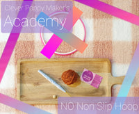 PRE-SALE: NO NON SLIP HOOP Clever Poppy Makers Academy Beginner Punch Needle Kit! - Punch Needle Supplies NZ