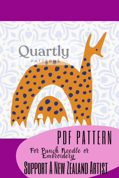 """Big Me Little You"" Punch Needle Pattern - Quartly Patterns - Punch Needle Supplies NZ"