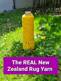 Wild Raspberry -The REAL NZ Rug Yarn - 14 ply 100% Merino Rug Yarn Hand-dyed Cakes For Punch Needle Rugs