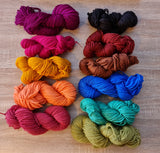 The REAL NZ Rug Yarn - 14 ply 100% Merino Rug Yarn Hand-dyed Cakes For Punch Needle Rugs