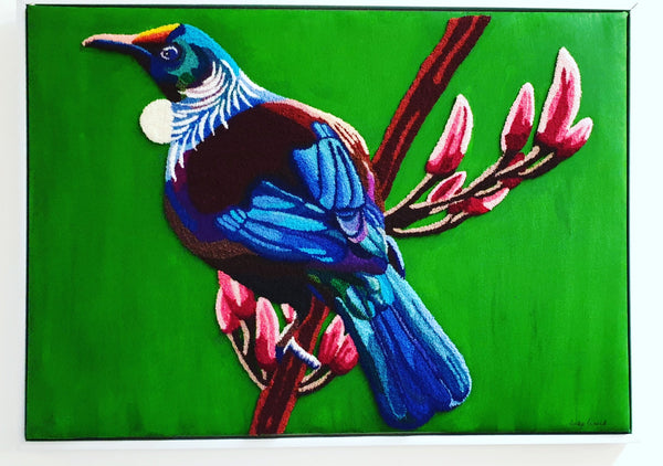 """Tui in Colour"" - Punch Needle Supplies NZ"