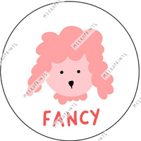 Fancy the Poodle Punch Needle Pattern - Meeko Prints - Punch Needle Supplies NZ
