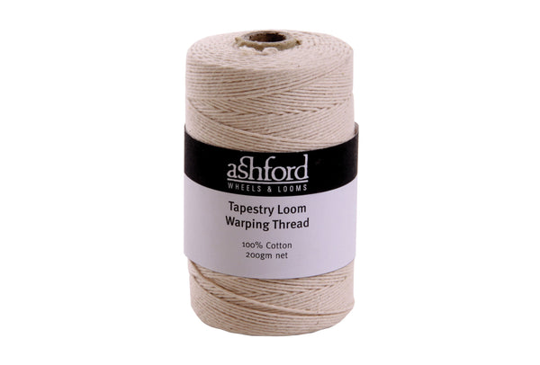 Ashford Tapestry Loom Warping Thread 100% cotton - 200gm cones - Punch Needle Supplies NZ