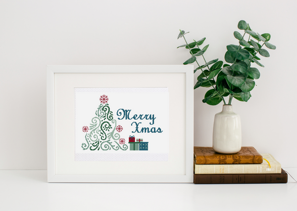 """Christmas"" Learn to Cross-Stitch with Cross Stitch Lab  - Support a Budding Artist! - Punch Needle Supplies NZ"