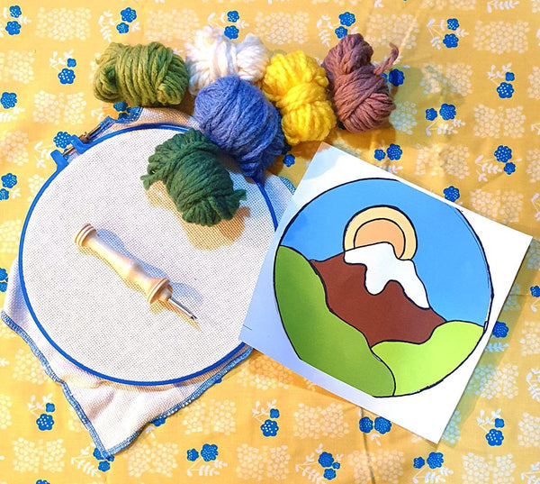 Beginner Oxford Punch Needle Mountain Kit! - Punch Needle Supplies NZ