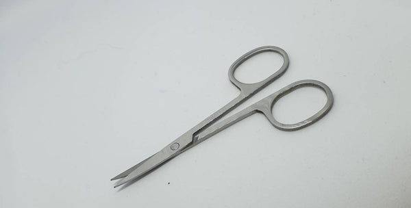 Stainless Steel Curved Tip Applique Scissors.