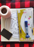 Introduction to Small Punch Needling and Punch Needle Embroidery - Kit with Basic Needle - Punch Needle Supplies NZ