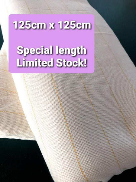 125cmx 125cm - limited stock!!Monks Cloth For Tufting Machines and Guns- with Yellow Guidelines - or large punch needles-