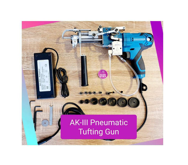 AK III Pneumatic Loop and Cut Pile Tufting Machine - Ships Jan 25th! by DHL Express