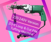 220-240V ZQ-II Loop and Cut Pile Tufting Machine - *Ships Jan 20th DHL Express Free* - Punch Needle Supplies NZ