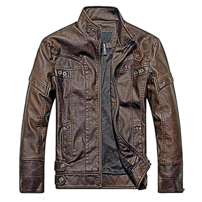 Biker Jacket Dark Brown
