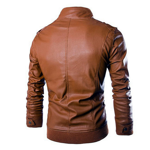 Slim Fit Motorcycle Leather Jacket