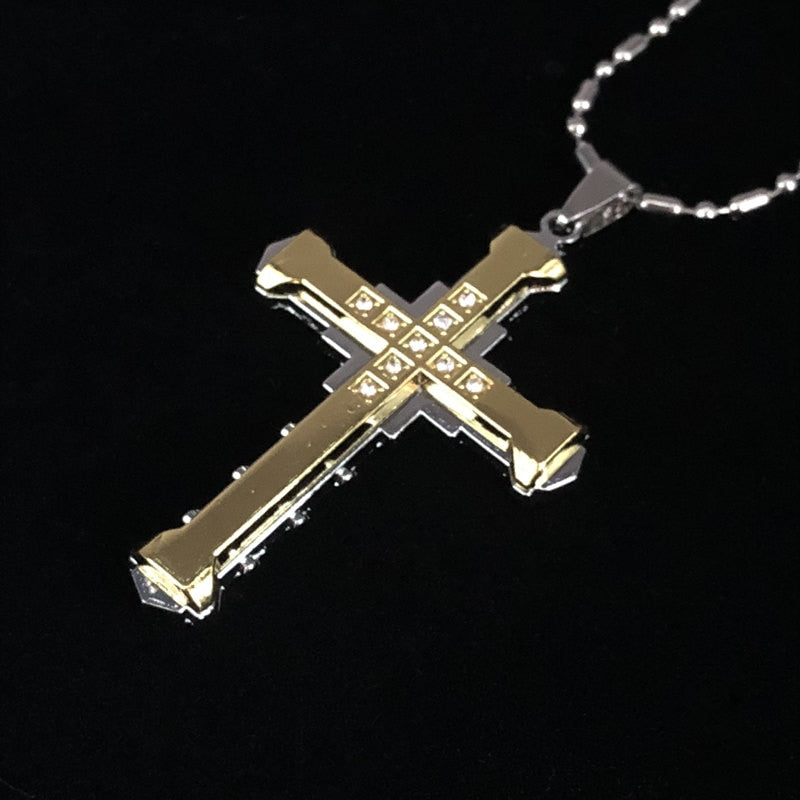 Dedication Crystal Cross Pendant