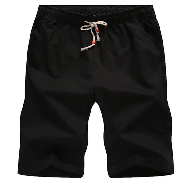 Cotton Boat Shorts - Black