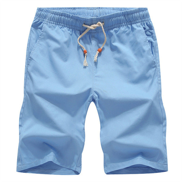 Cotton Boat Shorts - Sky Blue