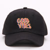 Good Vibes Dad Hat - Black