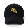 Pizza Slice Dad Hat - Black