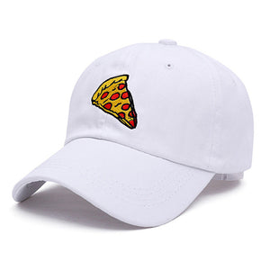 Pizza Slice Dad Hat - White