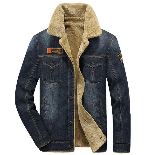 Rodeo Lined Denim Jacket - Blue