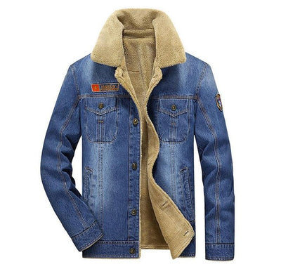 Rodeo Lined Denim Jacket - Light Blue