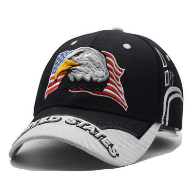 USA Eagle Baseball Cap - Camo Green