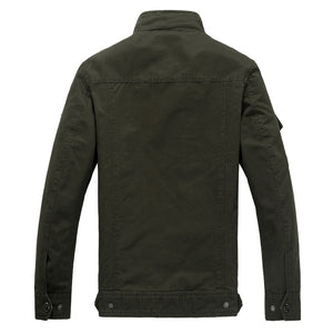 Black Military Bomber Jacket