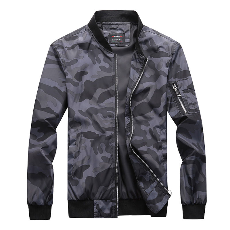 Camouflage Jacket - Dark Grey