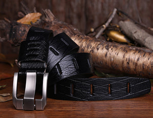 Designer 100% Luxury Leather Belts - Black