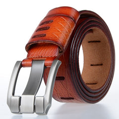 Designer 100% Luxury Leather Belt - Red